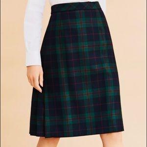 Brooks Brothers Tartan Plaid front pleated skirt.